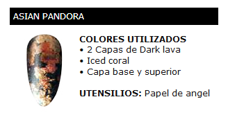 Asian pandora, manicura Shellec