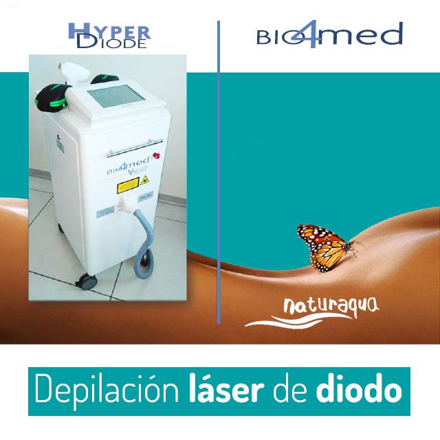 Depilación con láser de diodo. Naturaqua