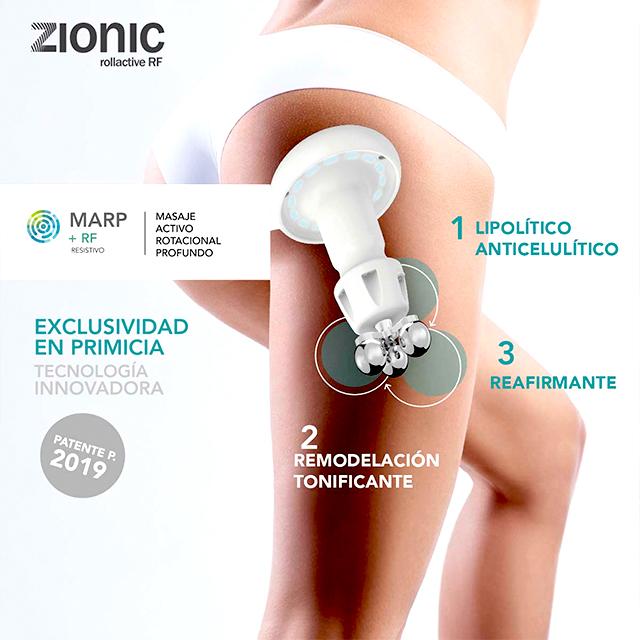 Zionic, la aparatología más avanzada en remodelación corporal de Termosalud en Naturaqua.