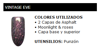 Vintage Eve, manicura Shellec