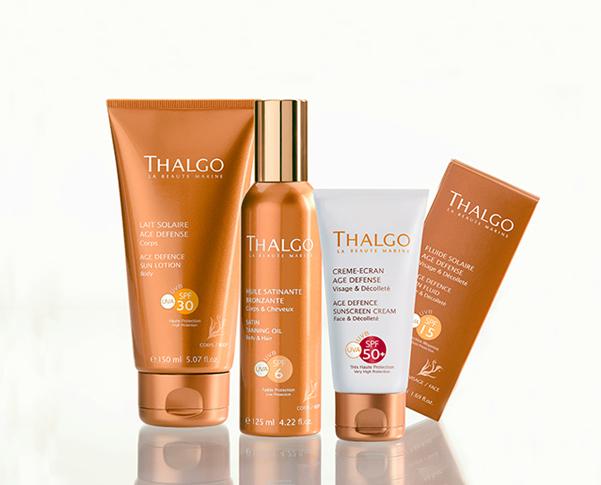 Linea de bronceadores de los laboratorios Thalgo. Tu piel lista para el verano.